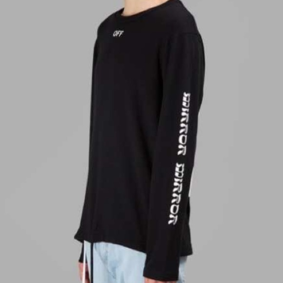 2f29a9f7 Off-White Shirts | Offwhite Quotes Ls Tee Black Size Small | Poshmark